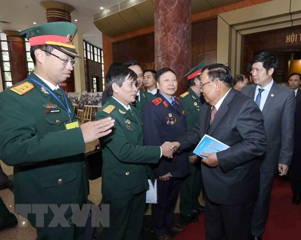 Tong Bi thu, Chu tich nuoc Lao noi chuyen voi the he tre Viet Nam hinh anh 1