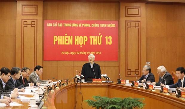 Phat bieu cua Tong Bi thu tai phien hop ve phong, chong tham nhung hinh anh 2