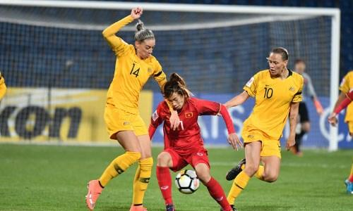 Vong chung ket Asian Cup: Tuyen nu Viet Nam thua dam Australia 0-8 hinh anh 1