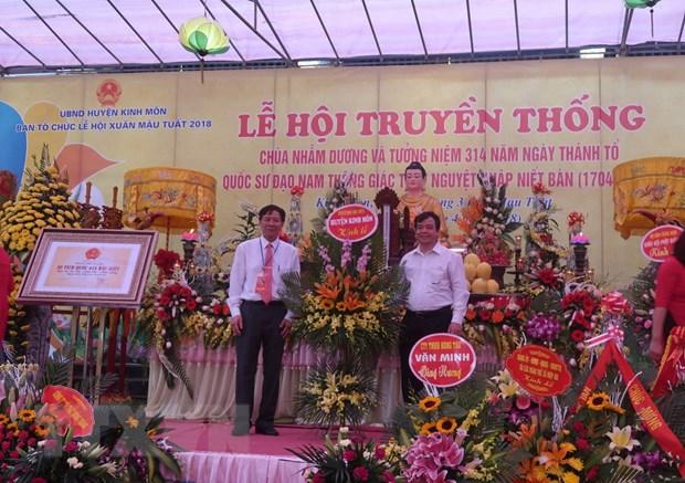Hai Duong: Khai hoi truyen thong chua Nham Duong o Kinh Mon hinh anh 1