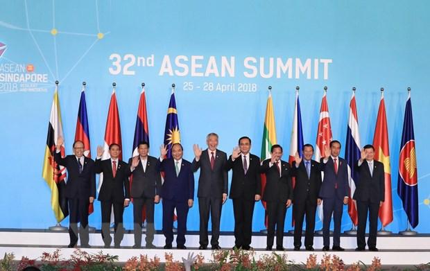 Thu tuong Nguyen Xuan Phuc du Hoi nghi Cap cao ASEAN lan thu 32 hinh anh 1