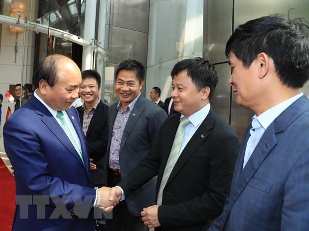Thu tuong ket thuc chuyen tham Singapore va du Hoi nghi Cap cao ASEAN hinh anh 1