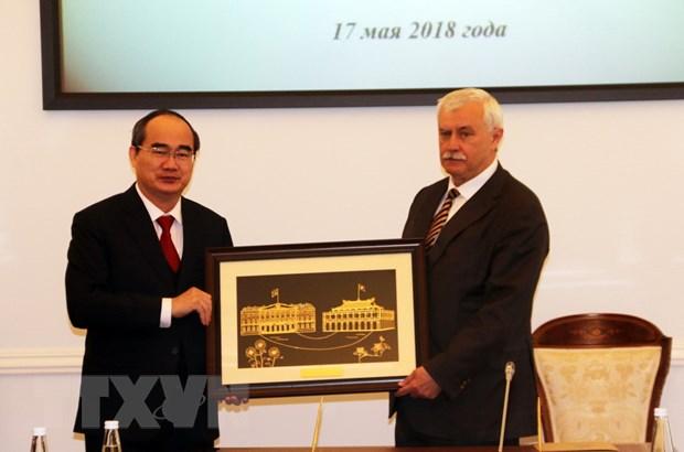 Thanh pho Ho Chi Minh va St. Petersburg tang cuong quan he hop tac hinh anh 2