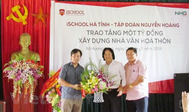 Tap doan Nguyen Hoang tang 1 ty dong xay dung nha van hoa thon hinh anh 3