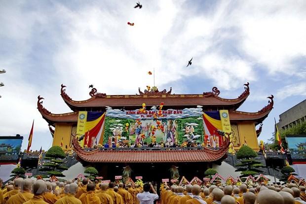 Truong Ban Dan van den tham Dai lao Hoa thuong Thich Pho Tue hinh anh 1