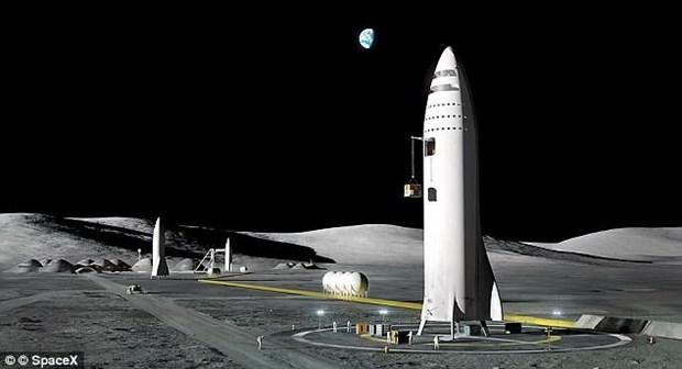 Tap doan SpaceX hoan ke hoach dua du khach len Mat Trang hinh anh 1