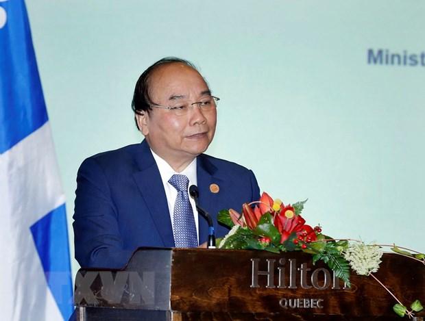Thu tuong Nguyen Xuan Phuc du Toa dam doanh nghiep Viet Nam-Canada hinh anh 1