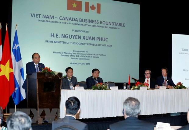 Thu tuong Nguyen Xuan Phuc du Toa dam doanh nghiep Viet Nam-Canada hinh anh 2