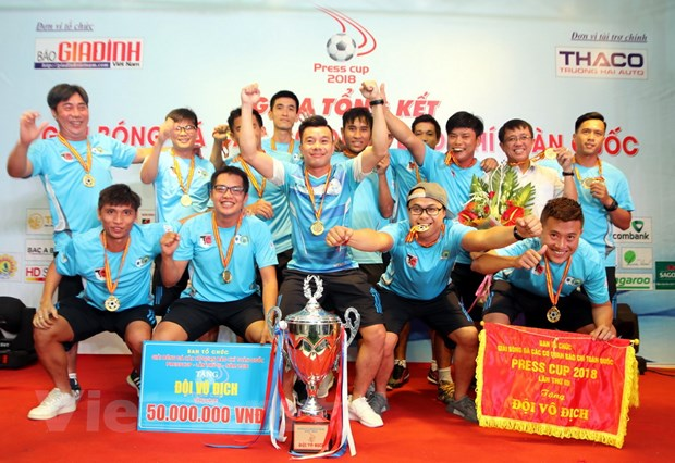 Cau lac bo phong vien the thao TP Ho Chi Minh vo dich Press Cup 2018 hinh anh 1