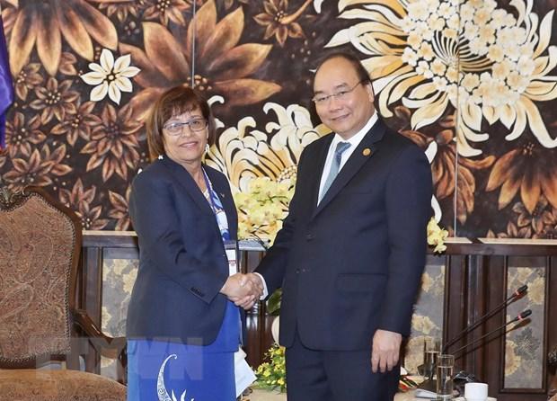 Thu tuong Nguyen Xuan Phuc tiep lanh dao mot so quoc gia du GEF 6 hinh anh 2
