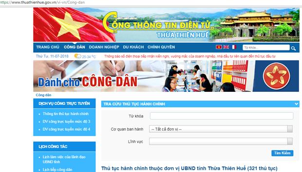 Thua Thien-Hue dung dau ve phat trien Chinh phu dien tu cap tinh hinh anh 1