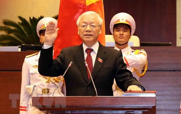 Truyen thong quoc te dua tin ve Tong Bi thu duoc bau lam Chu tich nuoc hinh anh 1