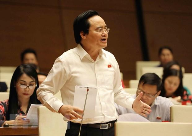 Bo truong Phung Xuan Nha giai trinh ve mot so van de 'nong' hinh anh 1
