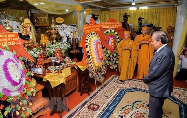 Cu hanh trang nghiem Le tang Truong lao Hoa thuong Thich Hien Phap hinh anh 1