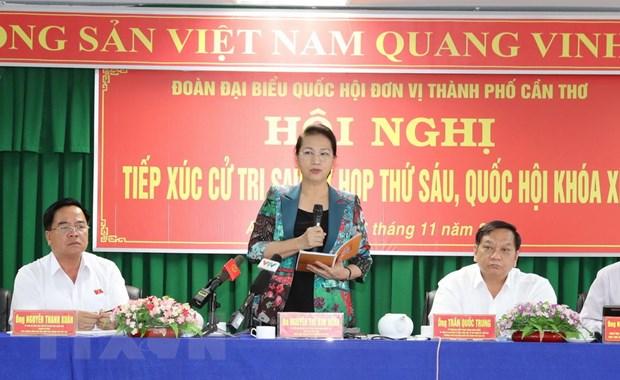 Chu tich Quoc hoi Nguyen Thi Kim Ngan tiep xuc cu tri Can Tho hinh anh 2