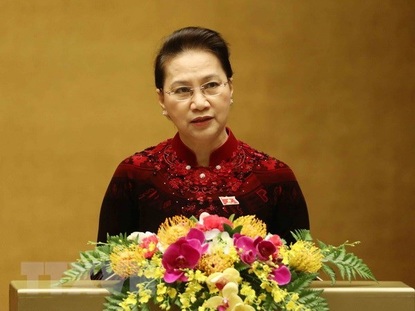 Chu tich Quoc hoi Nguyen Thi Kim Ngan len duong tham Han Quoc hinh anh 1