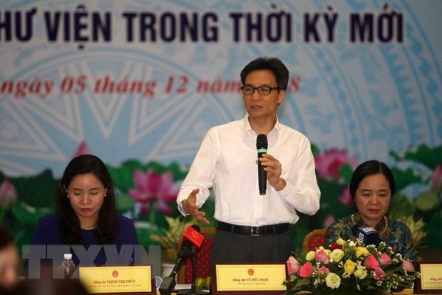 Pho Thu tuong: Viec so hoa thu vien se gop phan thu hut ban doc hinh anh 1