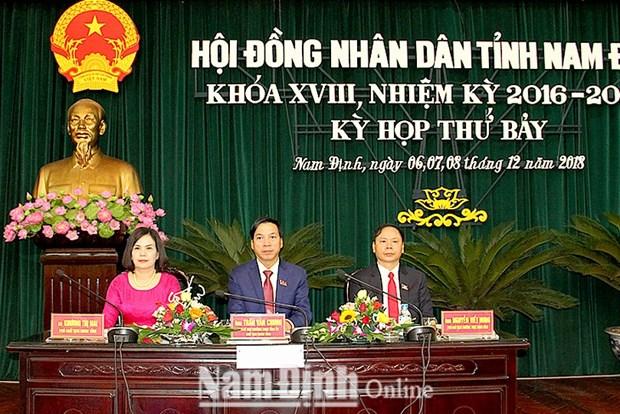 Nam Dinh lay phieu tin nhiem cac can bo do HDND tinh bau hinh anh 1