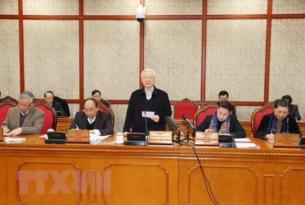 Bo Chinh tri lam viec voi Ban Thuong vu Thanh uy Da Nang hinh anh 1