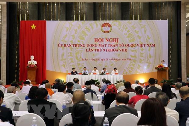 Khai mac Hoi nghi Uy ban Trung uong Mat tran To quoc Viet Nam lan 9 hinh anh 1