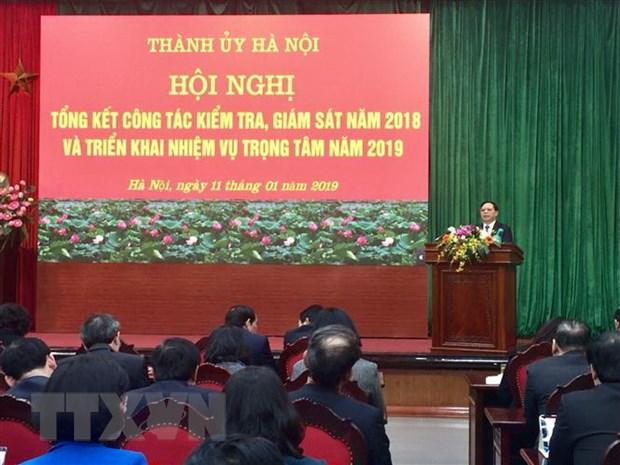 Ha Noi thi hanh ky luat 1.114 dang vien trong nam 2018 vua qua hinh anh 1