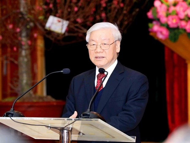 Tong Bi thu, Chu tich nuoc Nguyen Phu Trong tra loi phong van TTXVN hinh anh 1