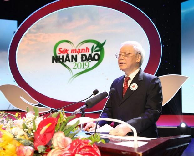 Tong Bi thu, Chu tich nuoc du chuong trinh Suc manh nhan dao 2019 hinh anh 1