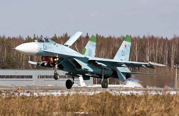 Chien dau co Su-27 cua Nga danh chan may bay trinh sat Thuy Dien hinh anh 1