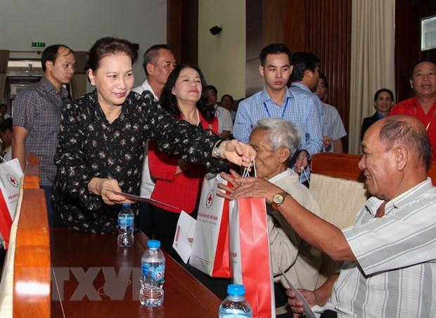 Chu tich Quoc hoi Nguyen Thi Kim Ngan lam viec tai tinh Hau Giang hinh anh 1
