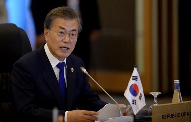 Ty le ung ho doi voi Tong thong Han Quoc Moon Jae-in tang manh hinh anh 1