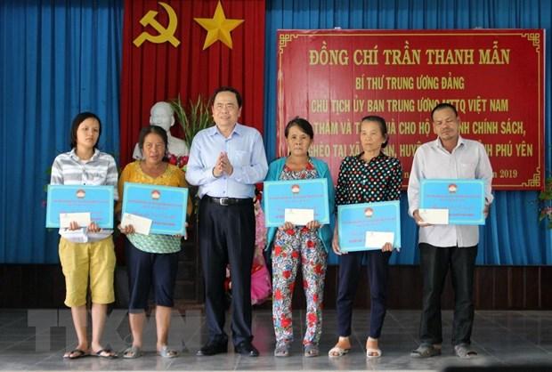 Chu tich Uy ban Trung uong MTTQ Viet Nam lam viec tai Phu Yen hinh anh 2