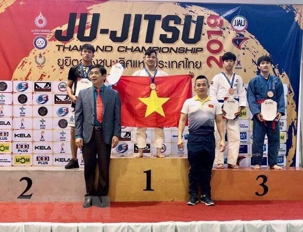 Viet Nam gianh huy chuong Vang tai giai Ju-Jitsu Thai Lan mo rong hinh anh 2