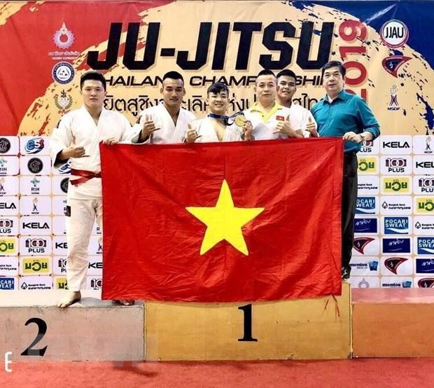 Viet Nam gianh huy chuong Vang tai giai Ju-Jitsu Thai Lan mo rong hinh anh 1