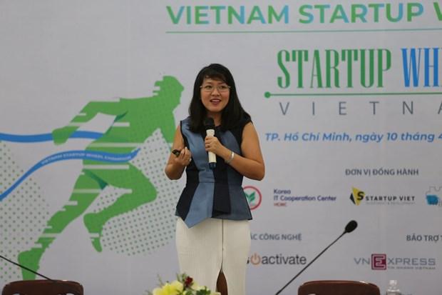 Phat dong cuoc thi khoi nghiep Vietnam Startup Wheel 2019 hinh anh 1