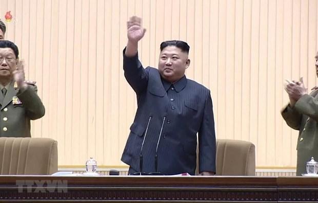 Ong Kim Jong-un duoc bau lai lam Chu tich Uy ban Quoc vu Trieu Tien hinh anh 1