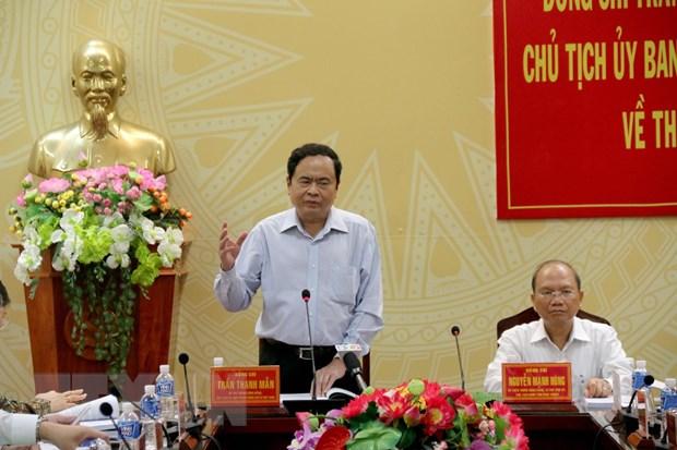 Chu tich Uy ban Trung uong MTTQ Viet Nam lam viec tai Binh Thuan hinh anh 1