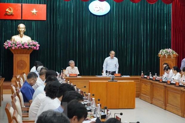 Doan Tieu ban Van kien Dai hoi XIII lam viec tai Thanh pho Ho Chi Minh hinh anh 1