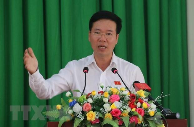 Truong Ban Tuyen giao TW Vo Van Thuong tiep xuc cu tri Dong Nai hinh anh 1