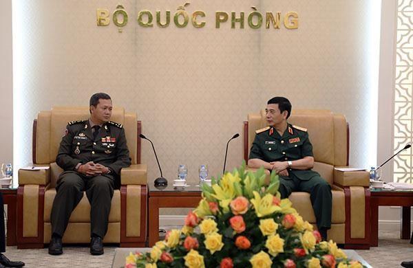 Hop tac quoc phong la mot tru cot cua quan he Viet Nam-Campuchia hinh anh 1