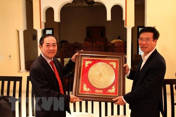 Truong ban Tuyen giao Trung uong Vo Van Thuong tham Maroc hinh anh 1