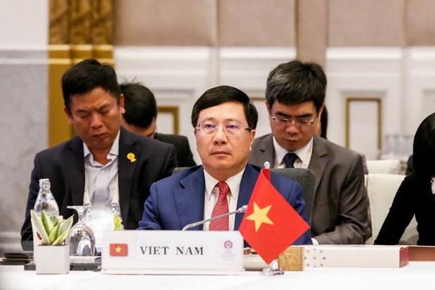 Doan Viet Nam tham du Hoi nghi Bo truong Ngoai giao ASEAN hinh anh 1
