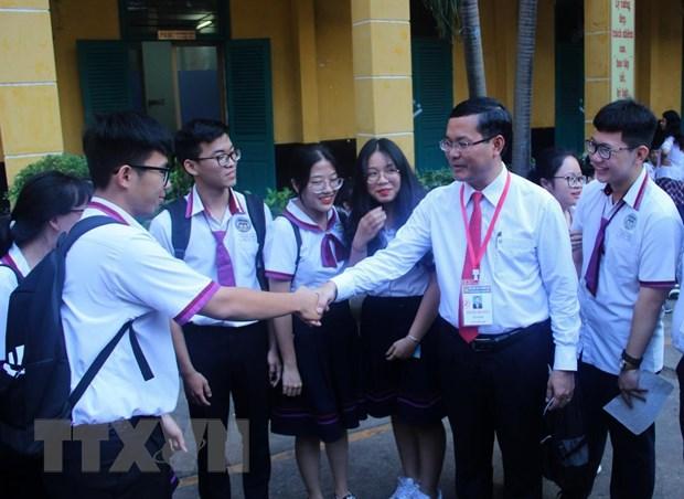 Kiem tra viec to chuc ky thi THPT Quoc gia tai Thanh pho Ho Chi Minh hinh anh 1