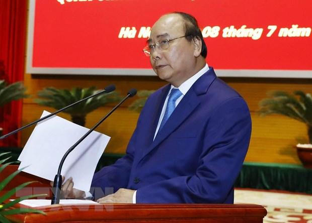 Thu tuong Nguyen Xuan Phuc du Hoi nghi Quan chinh toan quan hinh anh 1