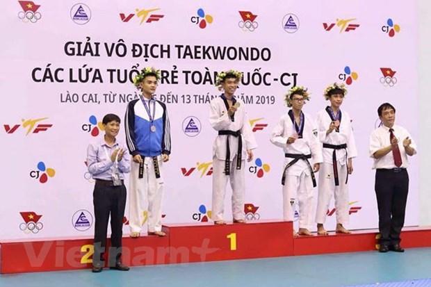 1.300 van dong vien du Giai Taekwondo cac lua tuoi tre toan quoc hinh anh 1