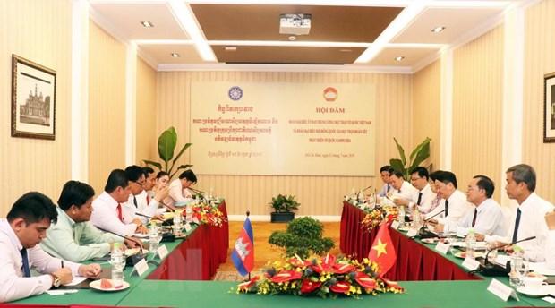 Viet Nam va Campuchia day manh hop tac trong cong tac Mat tran hinh anh 1