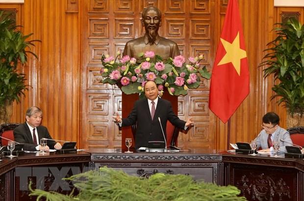 Thu tuong Nguyen Xuan Phuc tiep doan doanh nghiep Singapore hinh anh 1