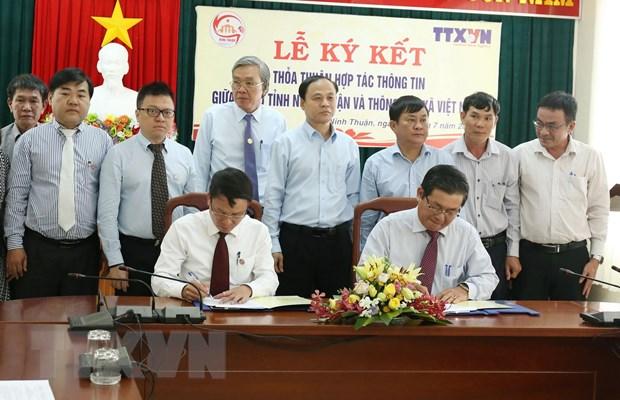 Tang cuong hop tac thong tin giua TTXVN va UBND tinh Ninh Thuan hinh anh 1