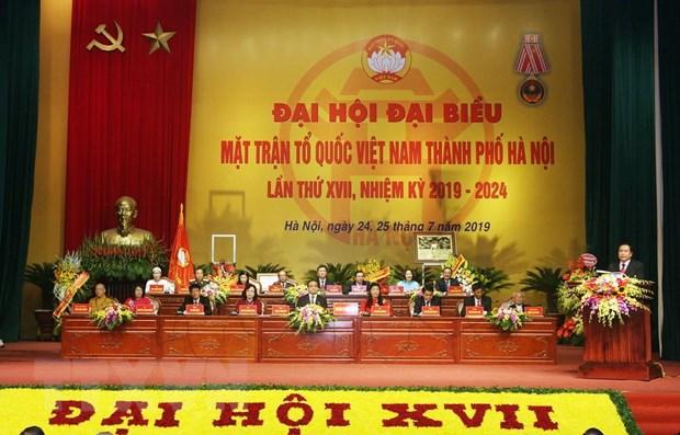 Dai hoi dai bieu Mat tran To quoc Viet Nam thanh pho Ha Noi hinh anh 1