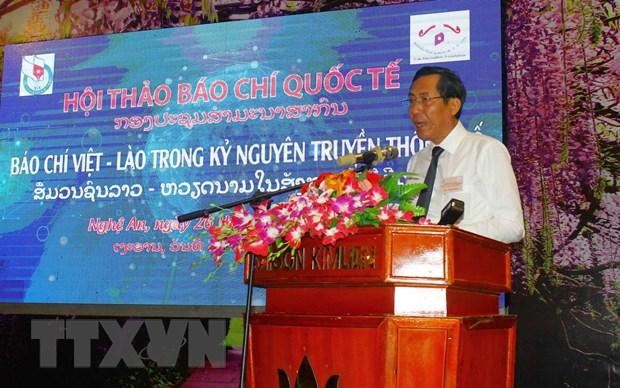 Viet-Lao day manh hop tac ve bao chi trong ky nguyen truyen thong so hinh anh 1
