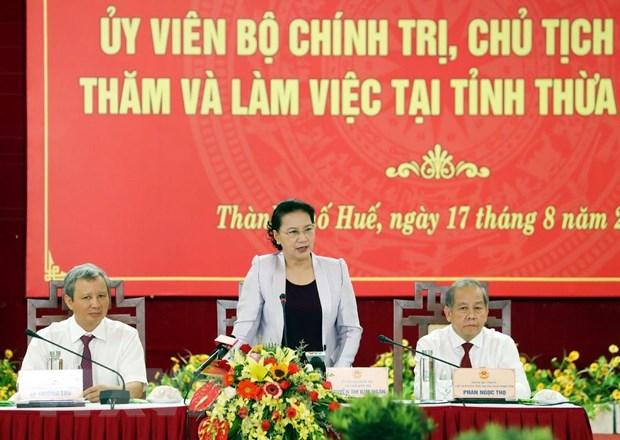 Chu tich Quoc hoi: Thua Thien-Hue nen co nhung dot pha ve kinh te hinh anh 2